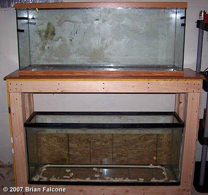 Building Double Aquarium Stand