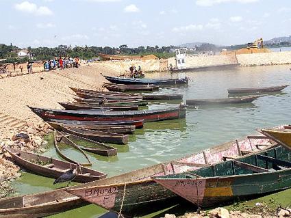 Lake Victoria fishing boats